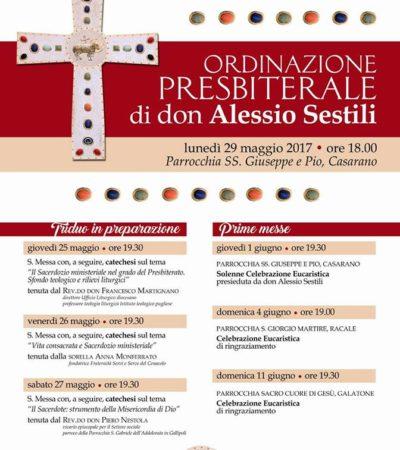 ORDINAZIONE SACERDOTALE DI DON ALESSIO SESTILI
